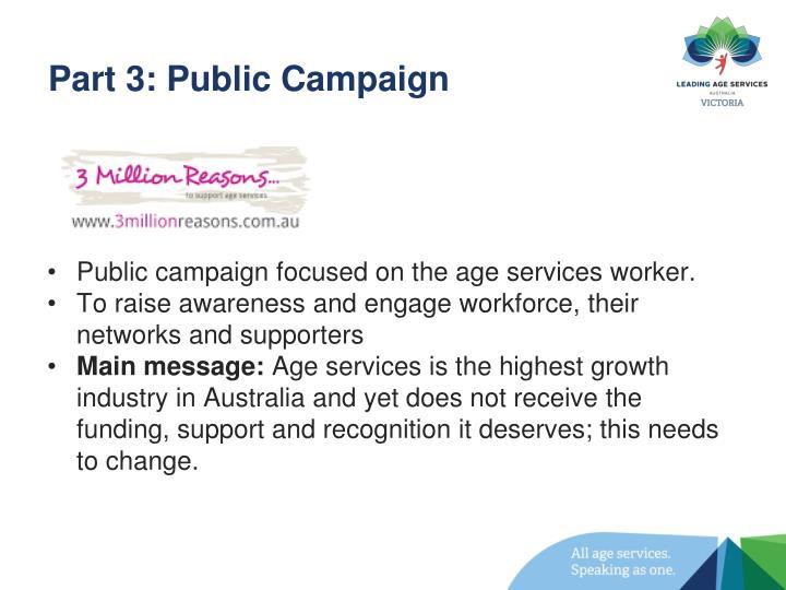 Part 3: Public Campaign