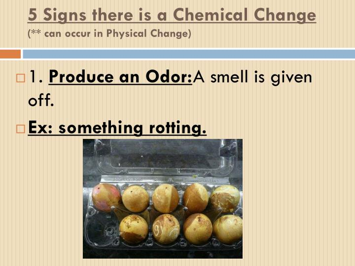 5 Signs there is a Chemical Change