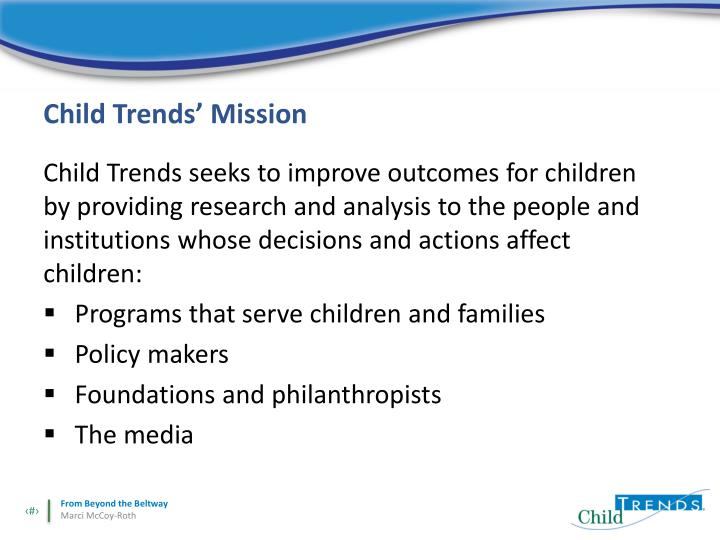 Child Trends' Mission
