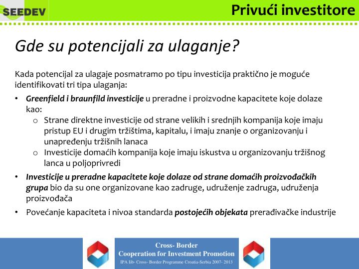 Privući investitore