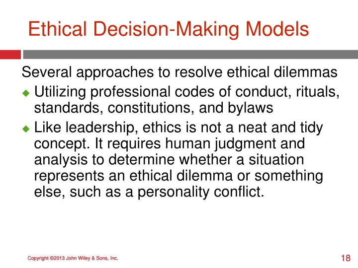 Ethical Decision-Making Models
