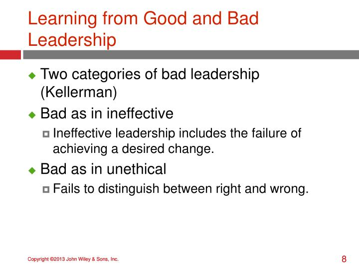 Learning from Good and Bad Leadership
