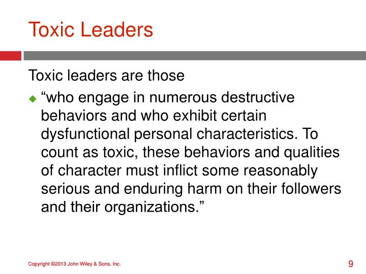 Toxic Leaders