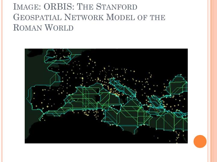 Image: ORBIS: The Stanford Geospatial Network Model of the Roman World