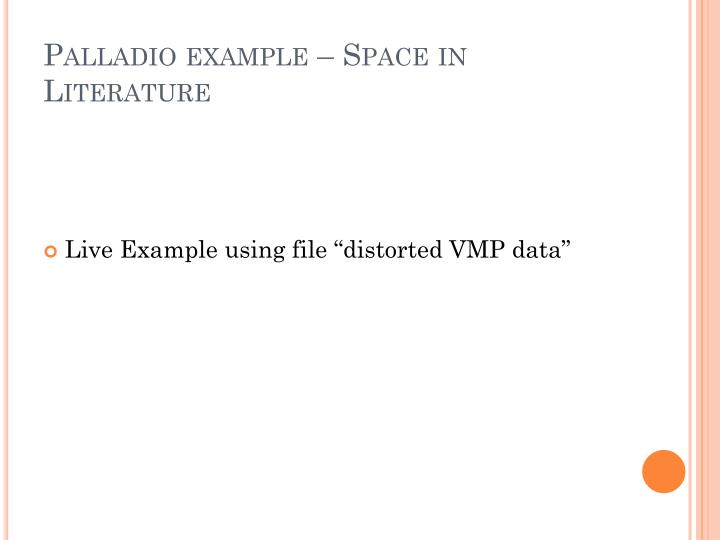Palladio example – Space in Literature