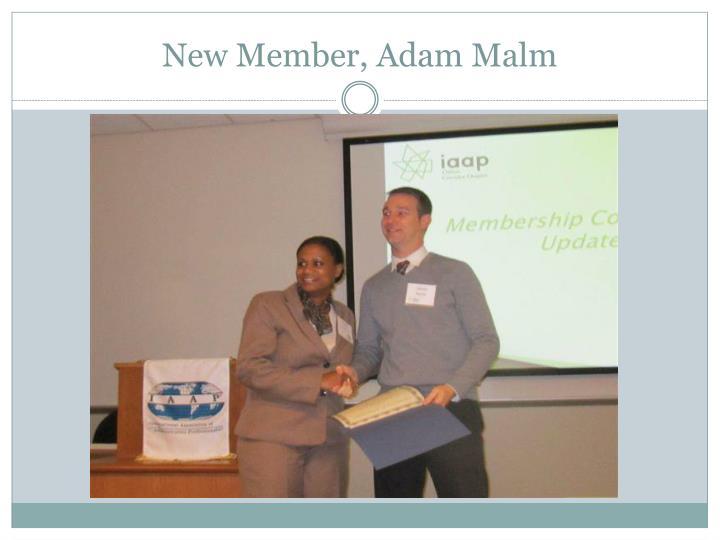 New Member, Adam