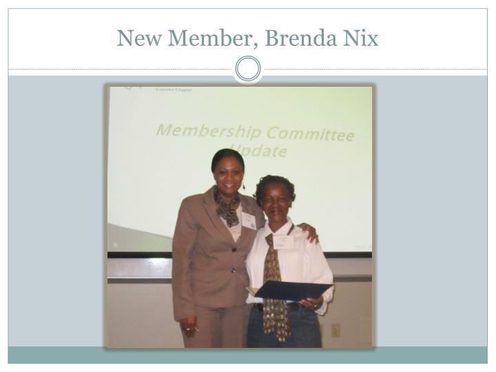 New Member, Brenda Nix