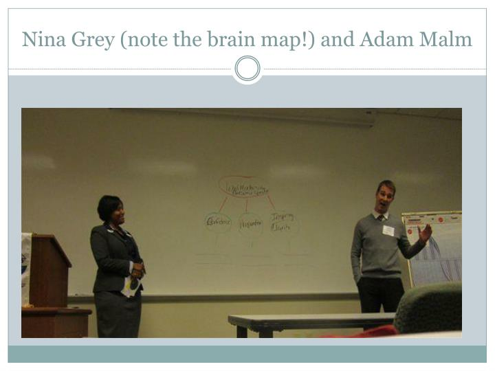 Nina Grey (note the brain map!) and Adam