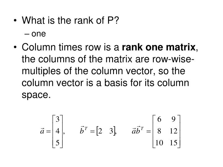 What is the rank of P?