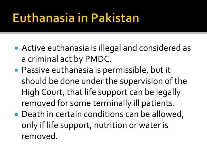 Euthanasia in Pakistan