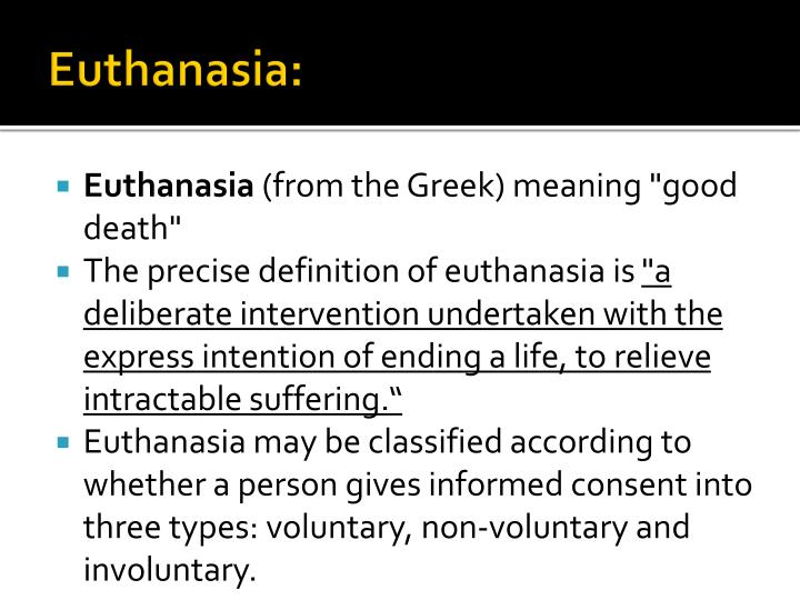 Euthanasia: