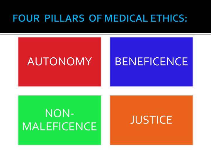 FOUR  PILLARS  OF MEDICAL ETHICS:
