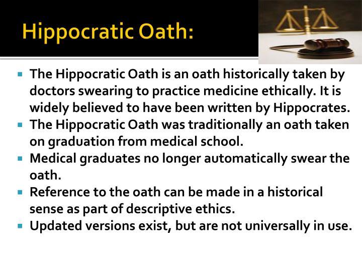 Hippocratic Oath: