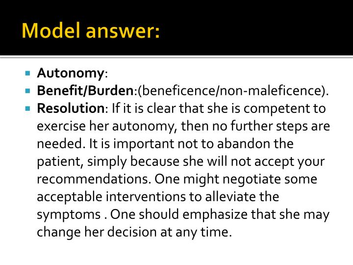 Model answer: