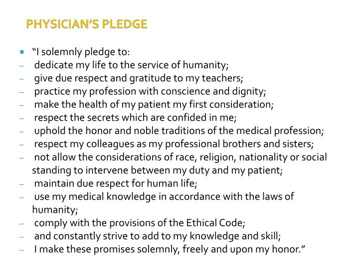 """I solemnly pledge to:"