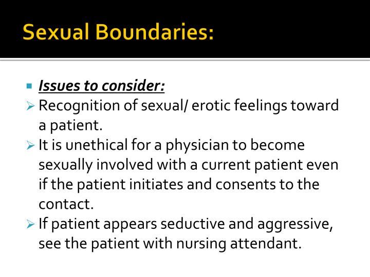Sexual Boundaries: