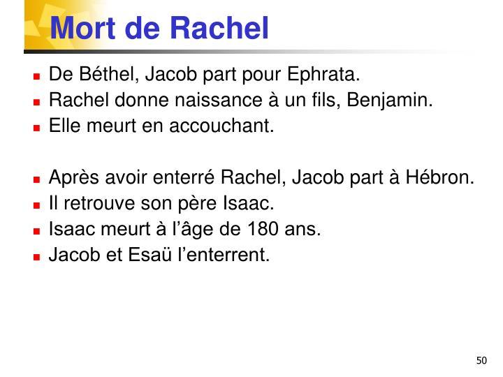Mort de Rachel