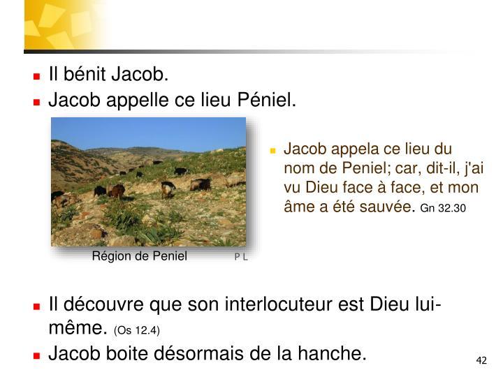 Il bénit Jacob.