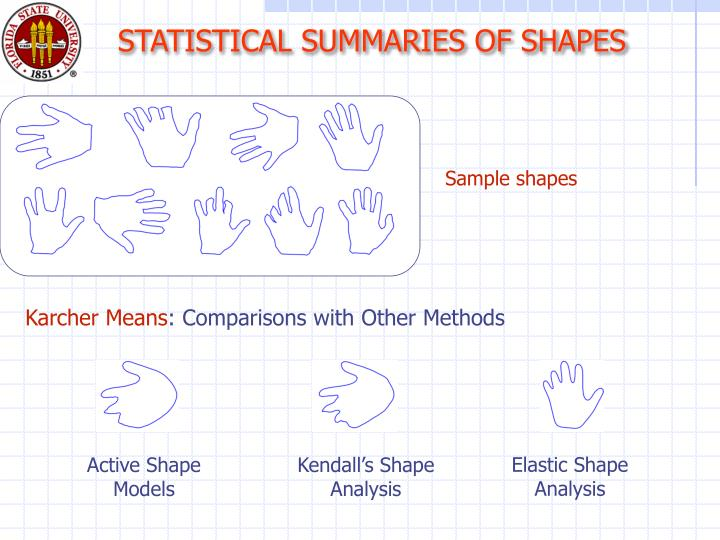 STATISTICAL SUMMARIES OF SHAPES