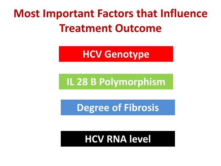 Most Important Factors that Influence Treatment Outcome