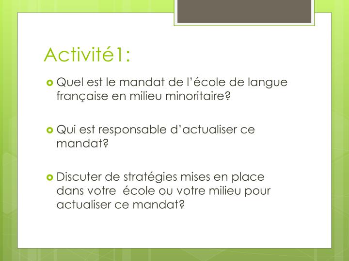 Activité1: