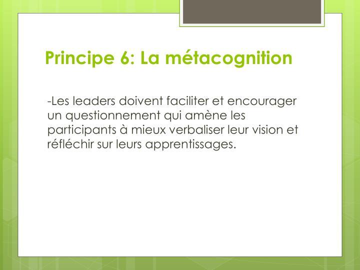 Principe 6: La métacognition