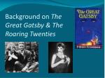 background on the great gatsby the roaring twenties