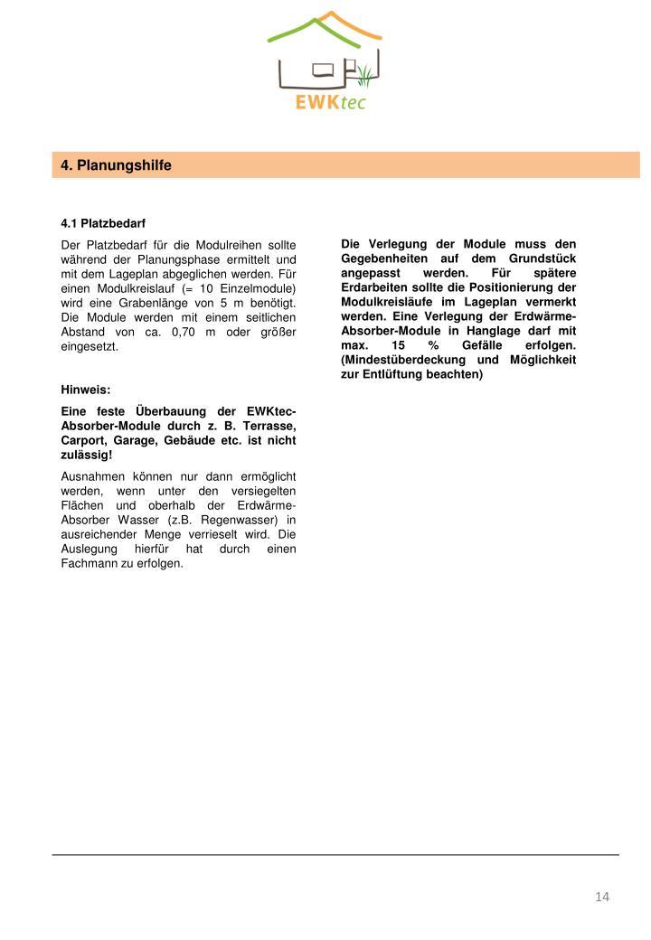 4. Planungshilfe