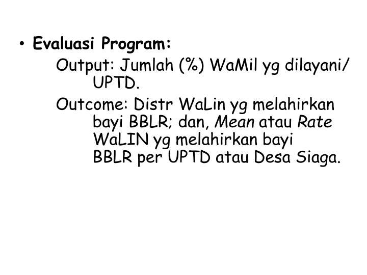 Evaluasi Program: