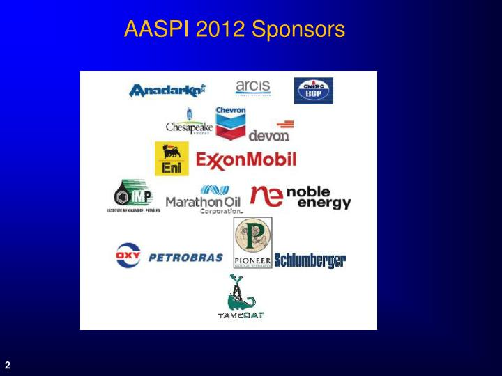 AASPI 2012 Sponsors