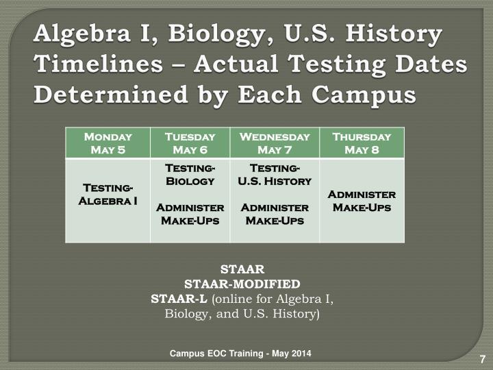 Tea staar testing dates