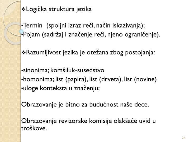 Logička struktura jezika