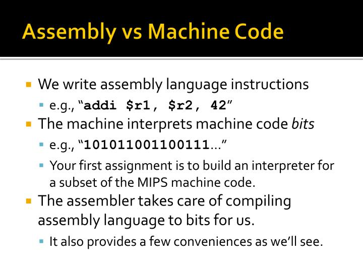 Assembly vs machine code