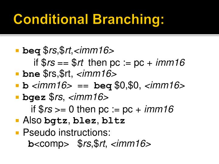Conditional Branching: