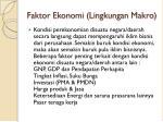 faktor ekonomi lingkungan makro