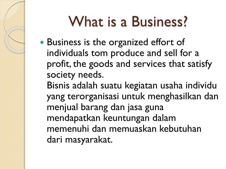 What is a business