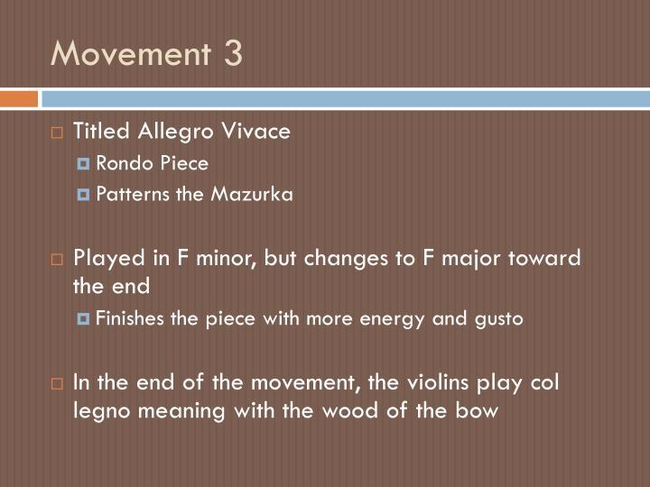 Movement 3