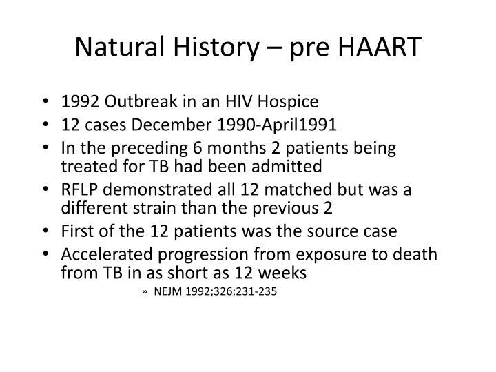 Natural History – pre HAART