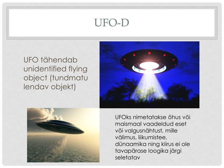 UFO-d