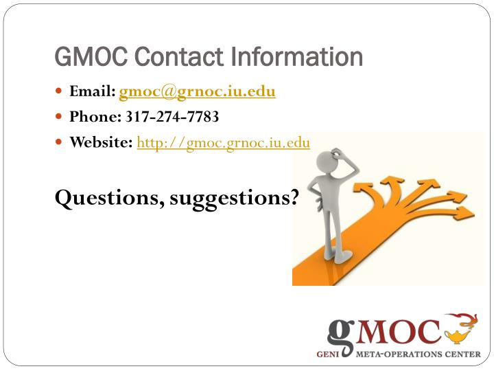 GMOC Contact Information