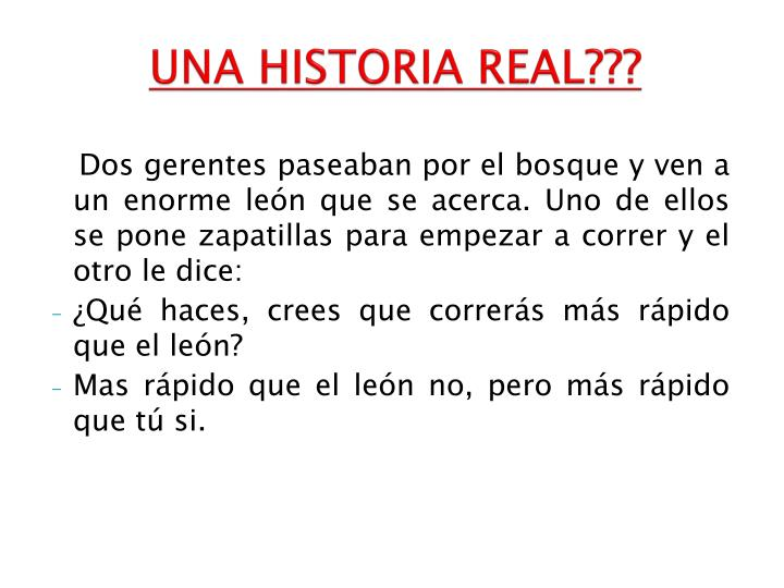 UNA HISTORIA REAL???