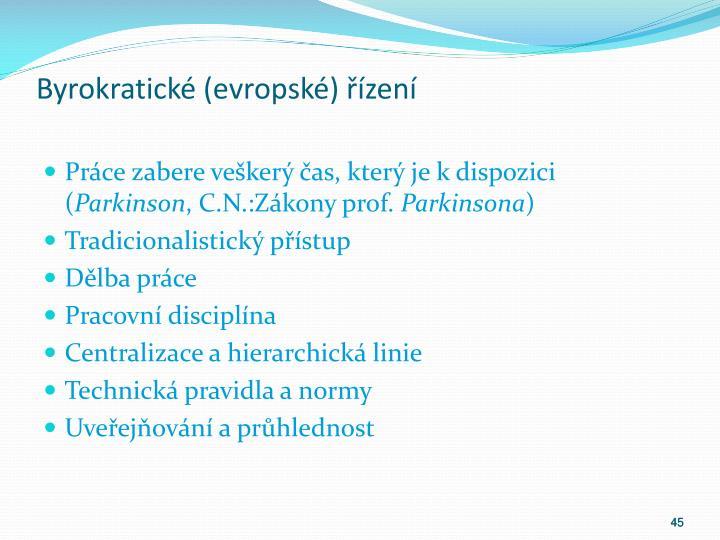 Byrokratické (evropské) řízení