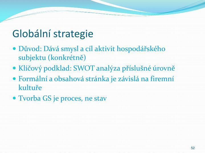 Globální strategie