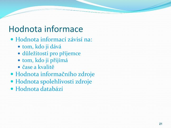Hodnota informace