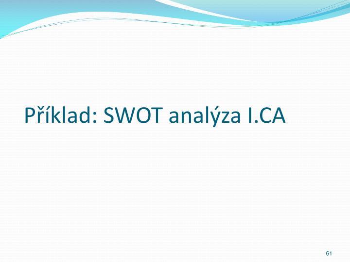 Příklad: SWOT analýza I.CA