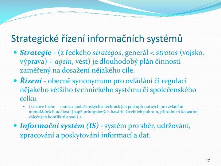 Strategické řízení informačních systémů