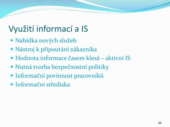 Využití informací a IS
