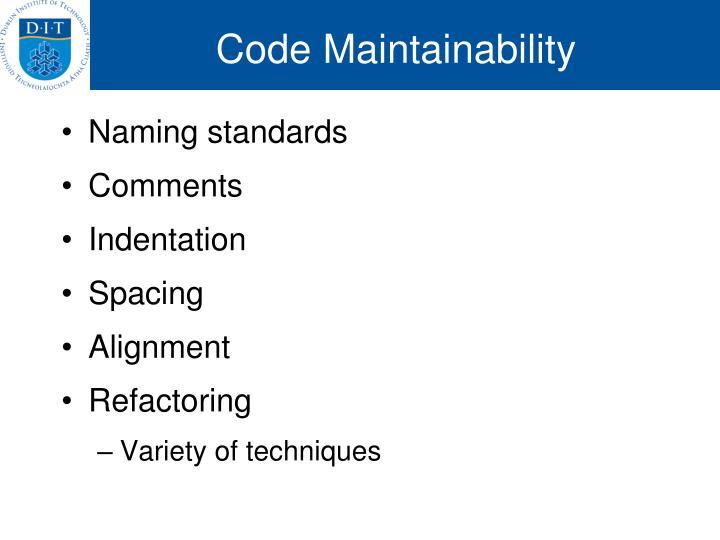 Code Maintainability