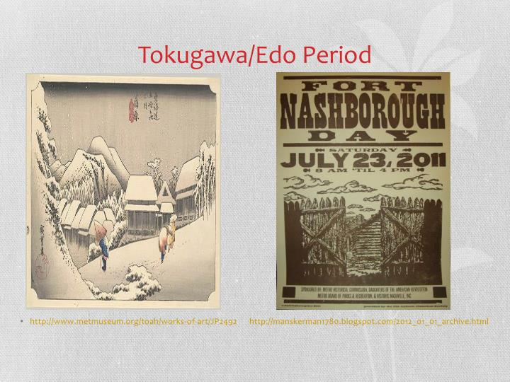 Tokugawa/Edo Period