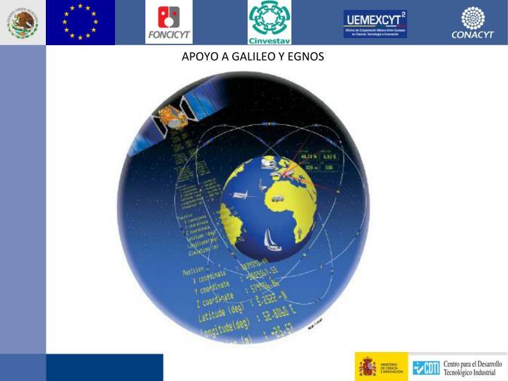 Apoyo a Galileo y EGNOS